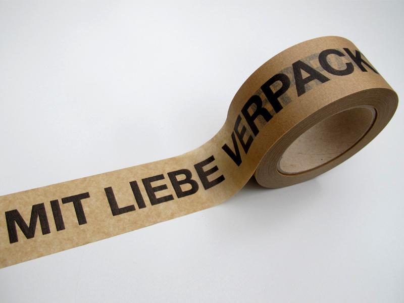Klebeband Papier Mit Liebe Verpackt Klebstoff Naturkautschuk